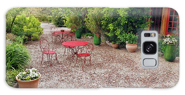 Outdoor Dining Galaxy Case - Red Tables And Chairs In Outdoor by Adam Jones