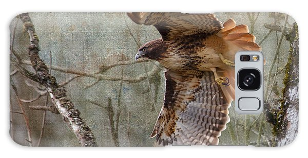 Red-tail Hawk In Flight Galaxy Case