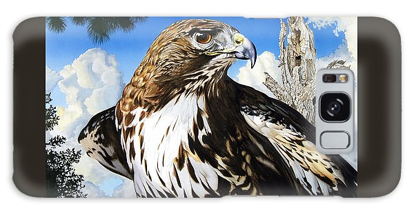 Da141 Red Tailed Hawk By Daniel Adams Galaxy Case