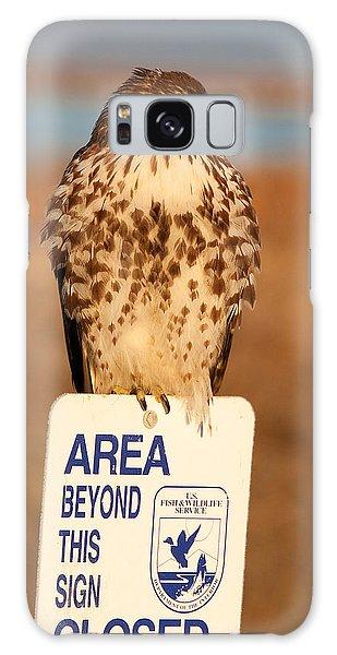 Red Tailed Hawk Lower Klamath National Wildlife Refuge Northern California Galaxy Case