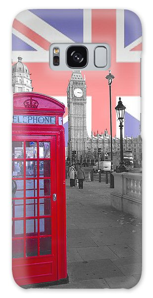 Red Telephone Big Ben Galaxy Case