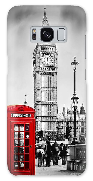 Red Telephone Booth And Big Ben In London Galaxy Case