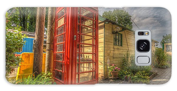 Red Telephone Box Galaxy Case