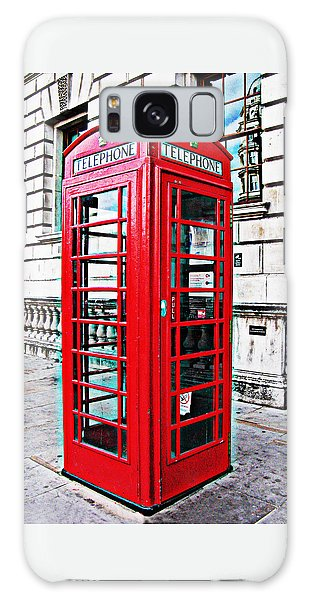 Red Telephone Box Call Box In London Galaxy Case