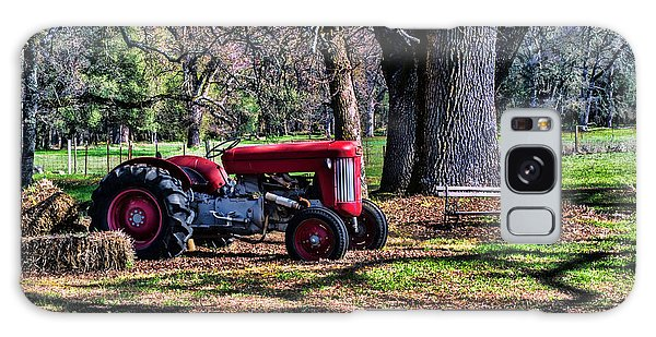 Red Tractor On The Farm Galaxy Case