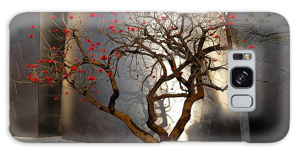 Red Tree  Galaxy Case by Gandz Photography