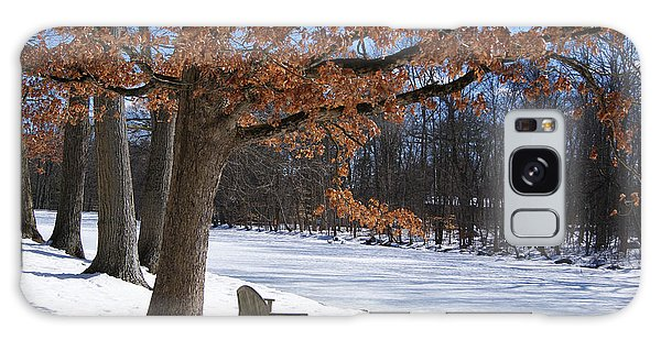 Red Tree In Winter Galaxy Case by Margie Avellino