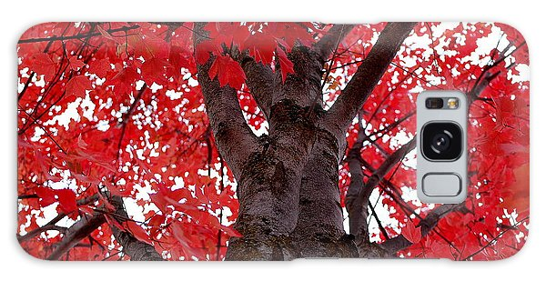 Red Tree Of Autumn Galaxy Case