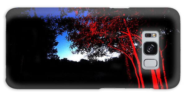 Red Trees Galaxy Case