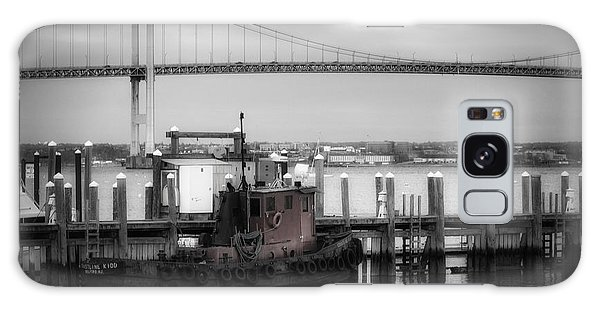 American Steel Galaxy Case - Red Tugboat And Newport Bridge by Joan Carroll