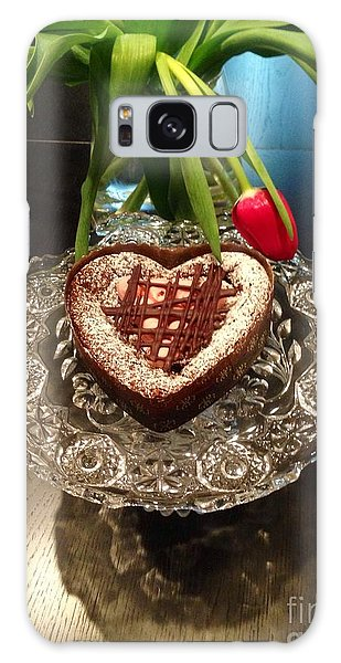 Red Tulip And Chocolate Heart Dessert Galaxy Case by Susan Garren
