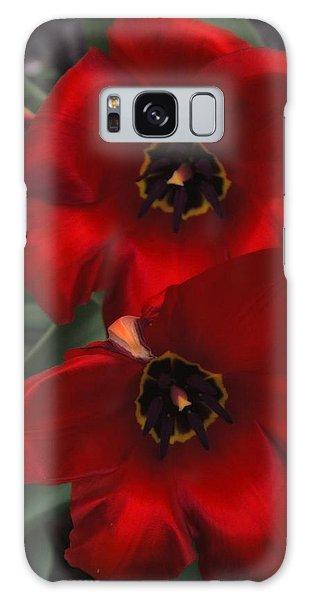 Red Tulip Pair Galaxy Case