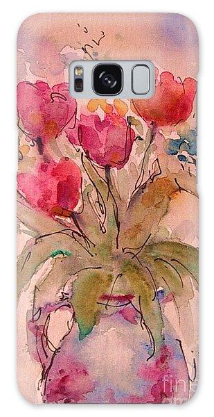 Red Tulips Galaxy Case by Jessamine Barron