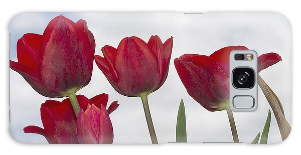 Red Tulips Galaxy Case by Wanda Krack