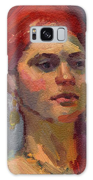 Turban Galaxy Case - Red Turban by Diane McClary