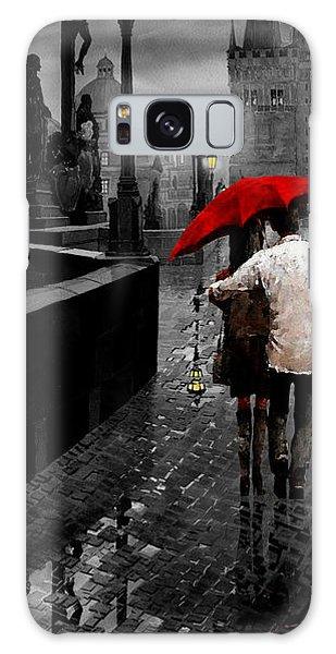 Mixed-media Galaxy Case - Red Umbrella 2 by Yuriy Shevchuk