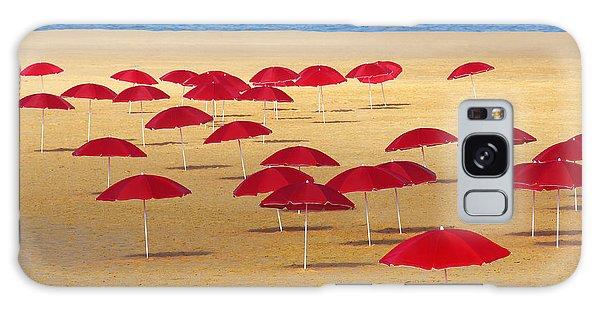 Water Ocean Galaxy Case - Red Umbrellas by Carlos Caetano
