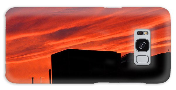 Red Urban Sky Galaxy Case