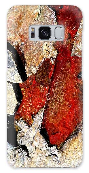 Red Veins Galaxy Case by Marcia Lee Jones