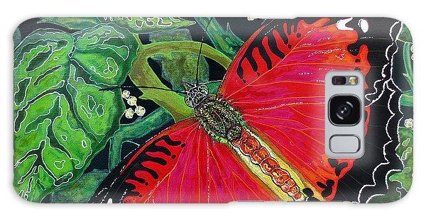 Red Butterfly Galaxy Case by Debbie Chamberlin