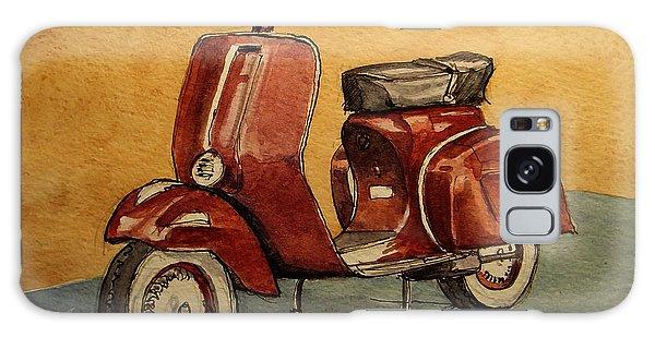 Motorcycle Galaxy S8 Case - Red Vespa by Juan  Bosco