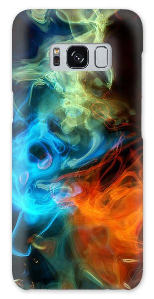 Red White And Blue Wispy Swirls Galaxy Case