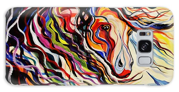 Red Wind Wild Horse Galaxy Case by Janice Rae Pariza