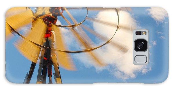 Red Wind Windmill Galaxy Case