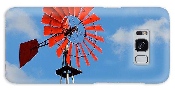Red Windmill Galaxy Case