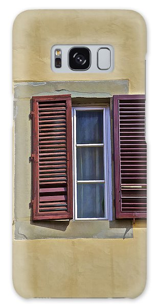 Red Window Shutters Of Florence Galaxy Case