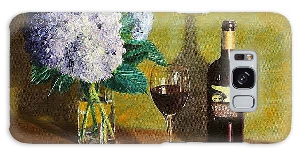 Red Wine And Hydrangea Galaxy Case