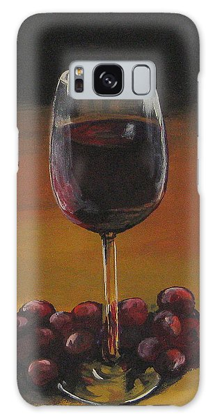 Red Wine And Red Grapes Galaxy Case by Torrie Smiley