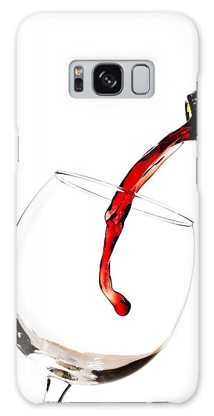 Red Wine Poured Into Wineglass Galaxy Case