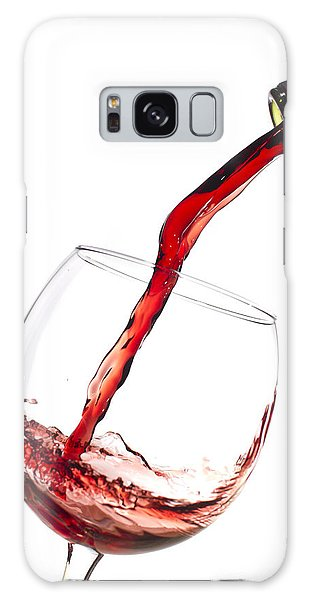 Red Wine Pouring Into Wineglass Splash Galaxy S8 Case