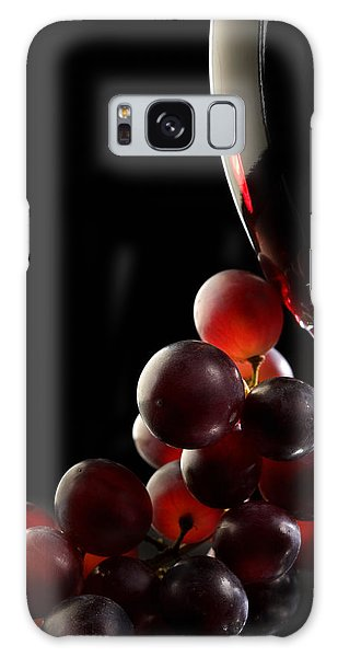 Glass Galaxy Case - Red Wine With Grapes by Johan Swanepoel