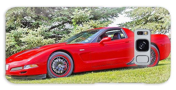 Red Z06 C5 Corvette Galaxy Case