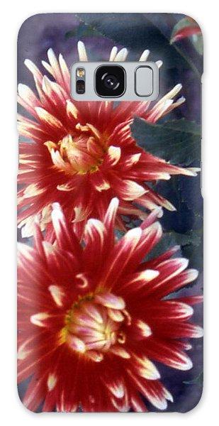 Red Dahlia Galaxy Case