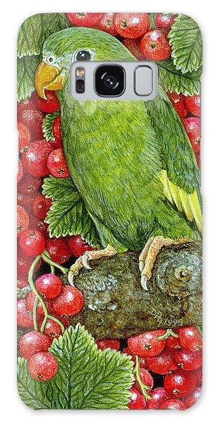 Redcurrant Parakeet Galaxy Case