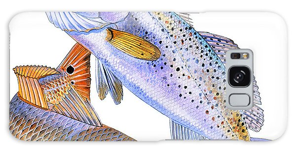 Salmon Galaxy S8 Case - Redfish Trout by Carey Chen