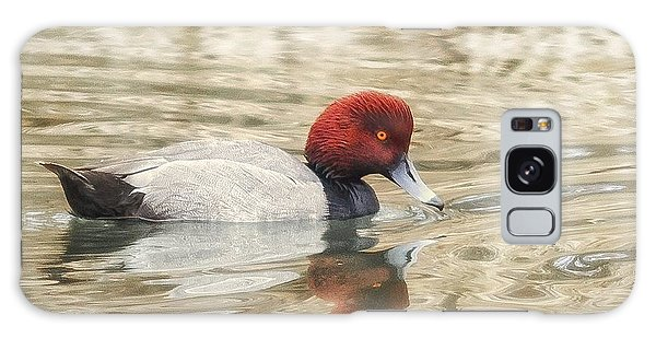 Redhead Duck In Golden Pond Galaxy Case