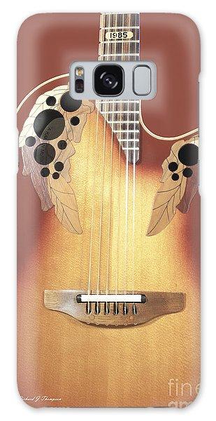 Redish-brown Guitar On Redish-brown Background Galaxy Case