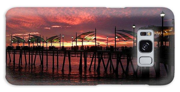 Redondo Beach Pier At Sunset Galaxy Case
