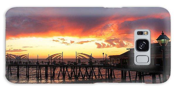 Redondo Pier Sunset Galaxy Case
