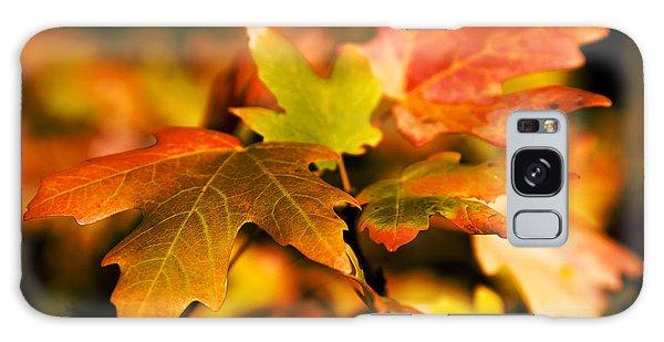 Green Leaf Galaxy Case - Reds by Chad Dutson