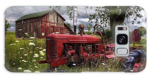 Reds In The Pasture Galaxy Case by Debra and Dave Vanderlaan