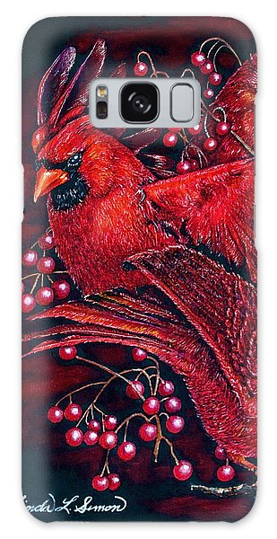 Reds Galaxy Case by Linda Simon