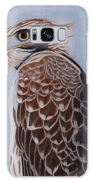 Redtail Portrait Galaxy Case