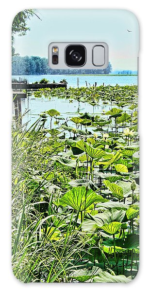 Reelfoot Lake Lilly Pads Galaxy Case