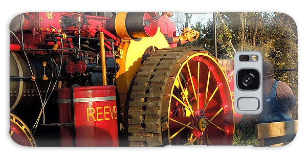 Reeves Steam Tractor Galaxy Case by Pete Trenholm