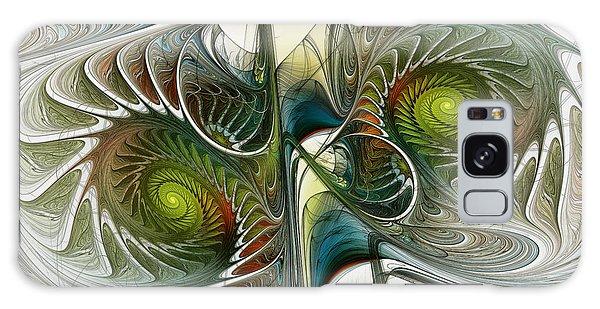 Reflected Spirals Fractal Art Galaxy Case